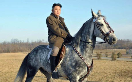 The leader of North Korea, Kim Jong Un.  The FBI claims his backward country hacked Sony pictures.  Security experts challenge the FBi's version of reality.  His horse is better fed than his people.