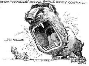 A werewolf of the airwaves: Michael Weiner (alias Savage)