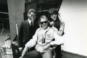 John Carpenter on the set of They Live (1988)