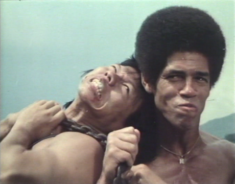 Jim Kelly and Bolo Yeung in The Tattoo Connection (1978)