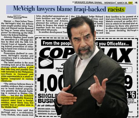 McVeigh Hussein Nazis